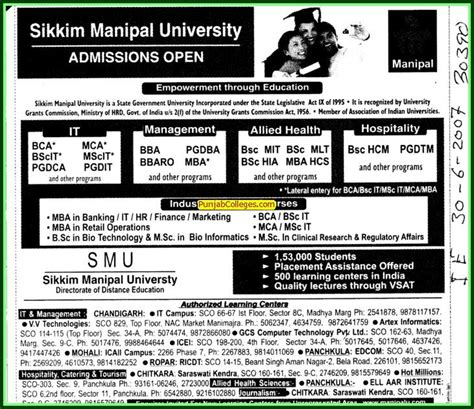 Mba Courses Offered By Sikkim Manipal by Sikkim Manipal Of Health And