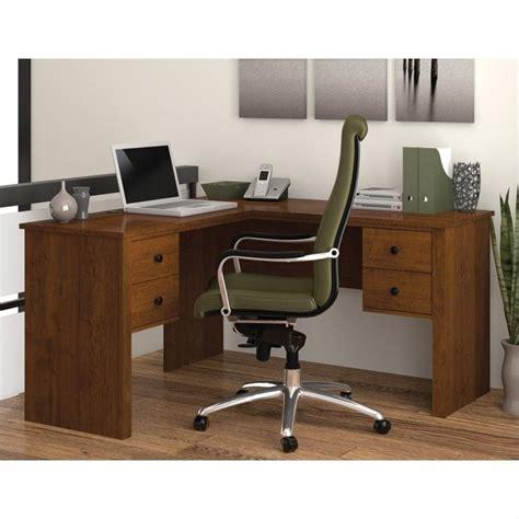 Brown Computer Desk by Bestar Somerville L Shaped Tuscany Brown Computer Desk Ebay