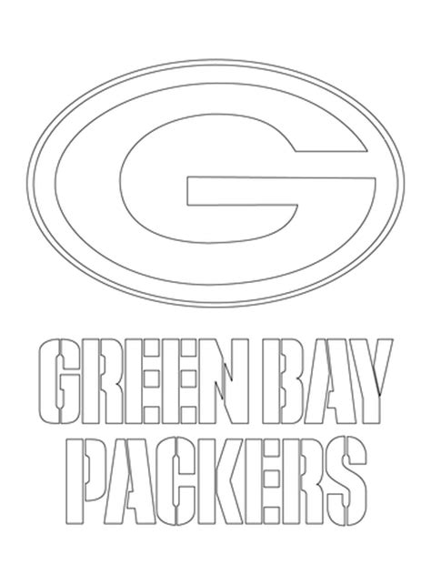 green bay packers logo coloring page | free printable