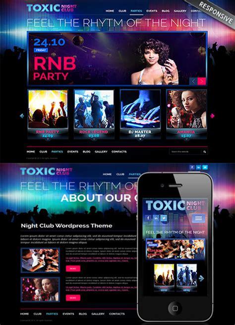 wordpress themes free club responsive night club wordpress theme 111684 simple