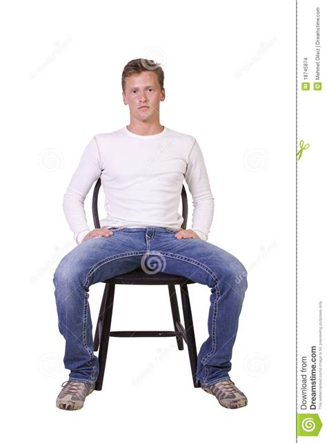 White Sitting Chair White Sitting On Chair Relaxed Stock Images Image