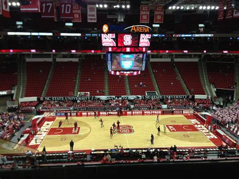 nc section pnc arena section 221 nc state basketball
