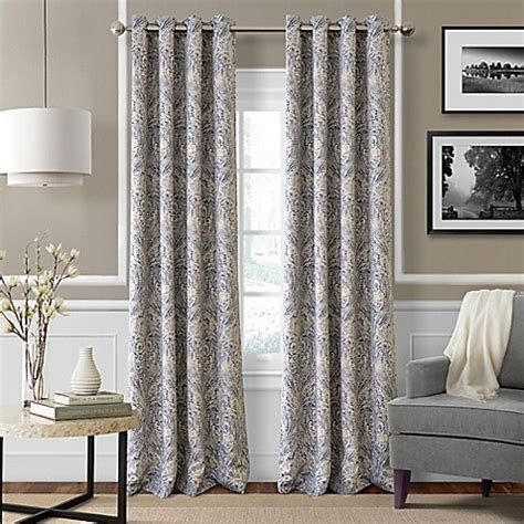 bed bath and beyond blackout drapes julianne blackout grommet top window curtain panel bed