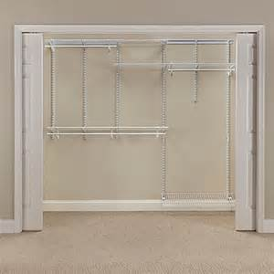 Closetmaid Wire Shelving Kits Closetmaid 174 Shelftrack 174 5 Foot To 8 Foot Wire Closet