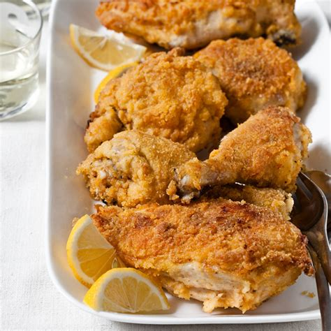 oven fried chicken with a polenta crust recipe grace