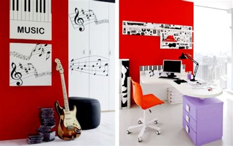 music themed home decor ideas for boys teenage bedroom