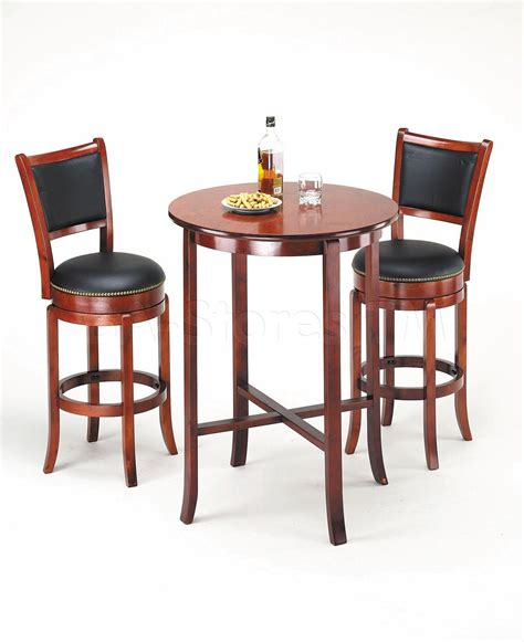 acme furniture chelsea round bar set cherry bar pub