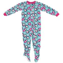 winter penguin footed pajamas for