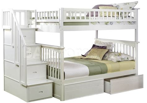 white bunk beds with stairs white twin over full bunk bed with stairs decorate my house