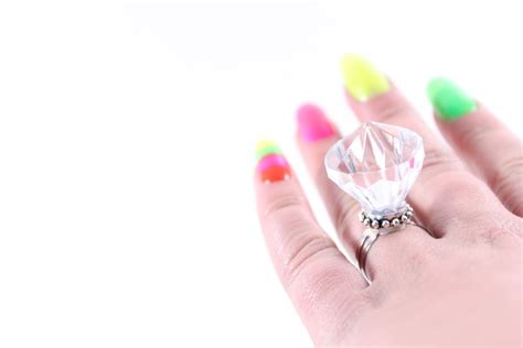 cosmetic rings for wedding promise