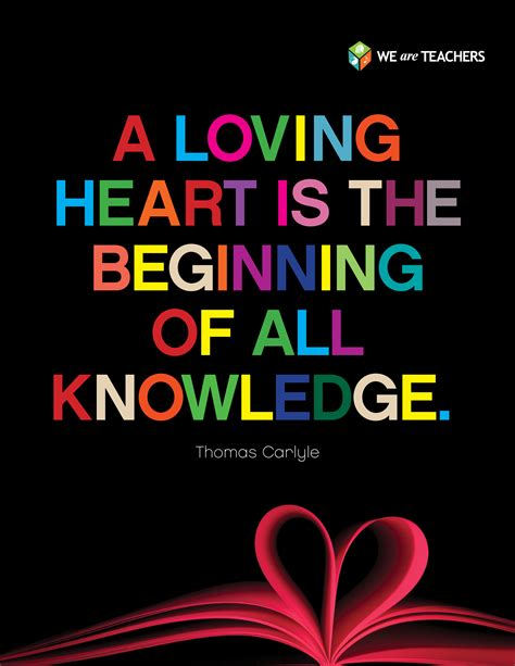 valentines day quotes for teachers a loving is the beginning of all knowledge click to