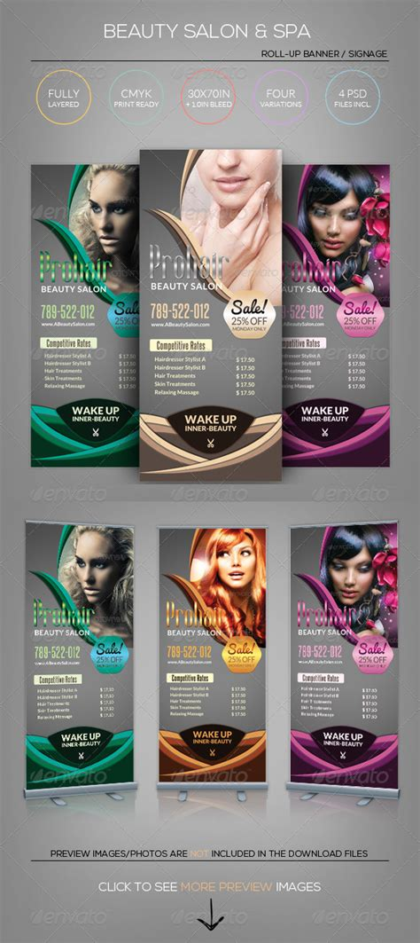 design banner spa beauty salon spa roll up banner template by katzeline