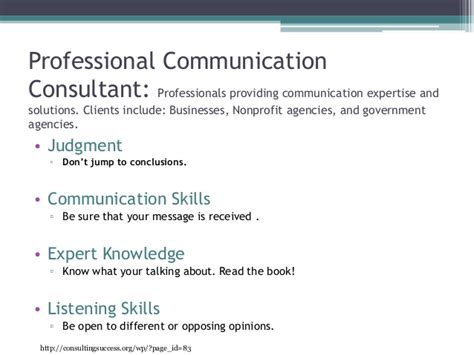 Communication Consultant by Professional Communication Consultant Pp 3