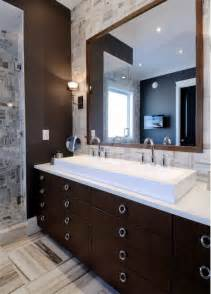 chocolate brown bathroom ideas espresso cabinets contemporary bathroom atmosphere