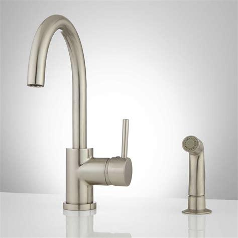 gooseneck kitchen faucet lora gooseneck single handle kitchen faucet with side spray ebay