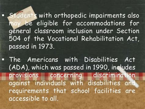 section 504 of the vocational rehabilitation act of 1973 orthopedic impairment