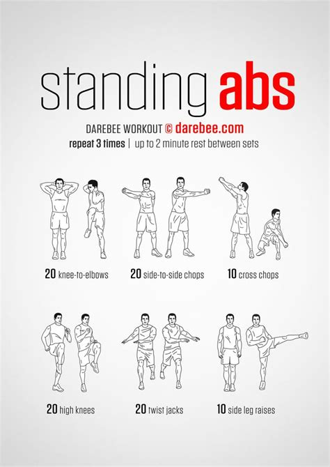 best 25 standing abdominal exercises ideas only on standing abs workout standing