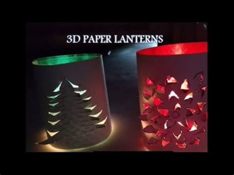 Handmade Diwali Lantern - handmade 3d paper lanterns decoration idea diy