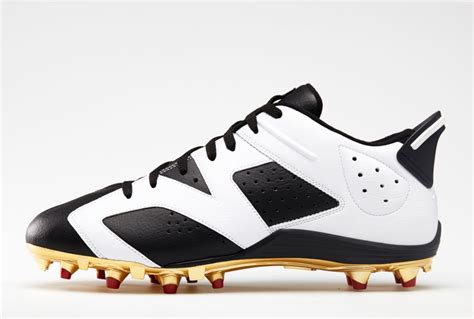 retro football shoes air 6 retro cleats for michael crabtree and earl