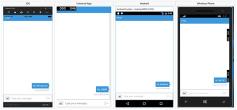 chat layout in android exle embed a bot in an app bot service microsoft docs