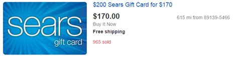 Sears Discount Gift Card - hot deal on sears gift cards deep discounts