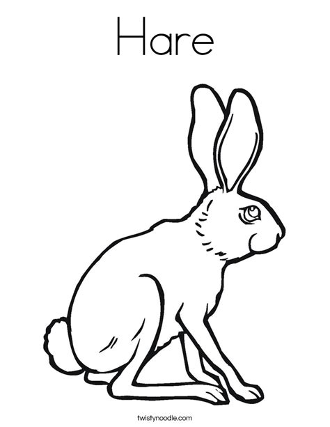 arctic hare coloring page az coloring pages arctic hare coloring page az coloring pages