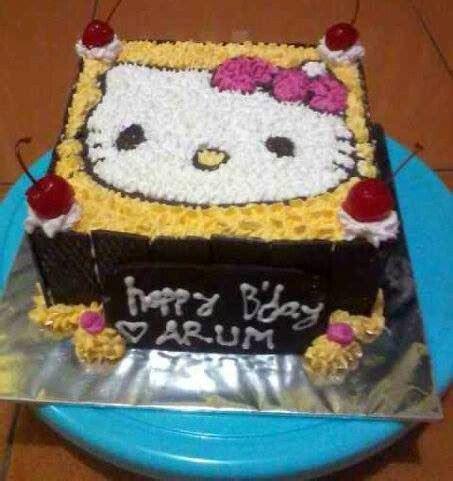 membuat kue tart coklat tips cara membuat kue tart gambar hello kitty