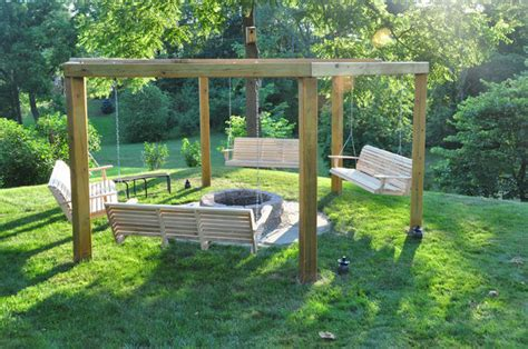 swing fire pit plans diy porch swing fire pit home design garden