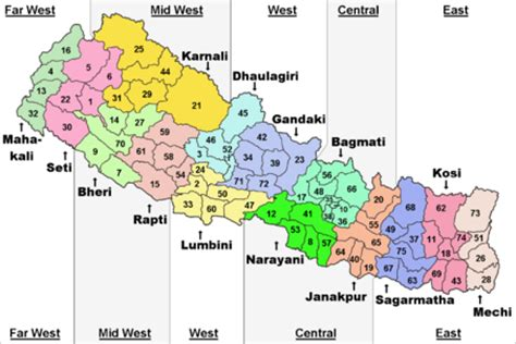 zones & districts | nepal