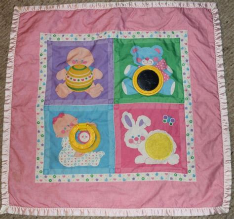 Activity Decke Dschungel by Vtg 1983 Fisher Price Play Activity Blanket 137 Baby Pink