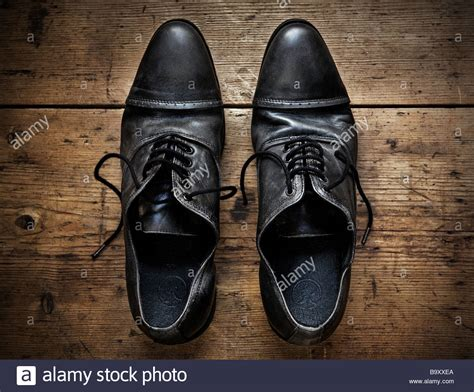 shoes on the table shoes on a wooden table stock photo royalty free