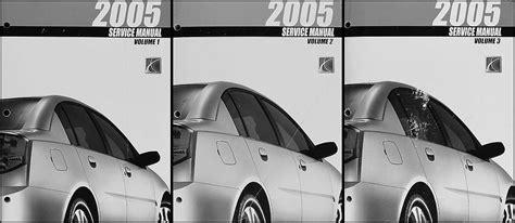 buy car manuals 2004 saturn ion free book repair manuals 2005 saturn ion repair shop manual 3 volume set original