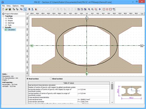 cross sectional data analysis section structural software fin ec fine