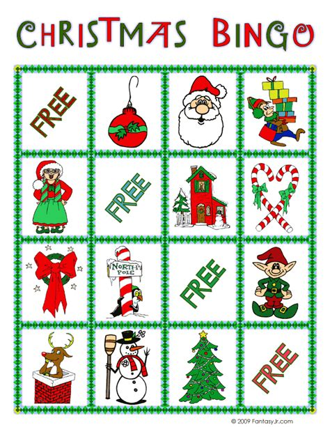 printable christmas bingo game cards christmas bingo card 2 woo jr kids activities