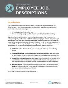 How To Write A Description Template by Employee Descriptions Tool And Template