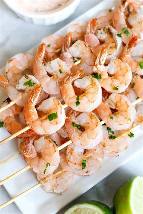 recipe shrimp and scallion skewers with creamy grilled pepper sauce grilled shrimp skewers with creamy chili sauce diabetes