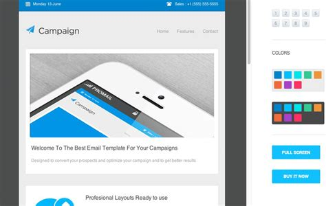 32 Responsive Email Templates For Your Small Business Outlook Responsive Email Template