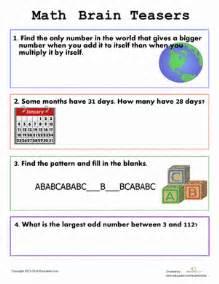 easy brain teasers for kids worksheet education com