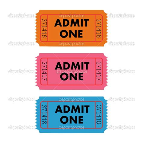 blank admit one ticket template doc 500386 admit one ticket template free free