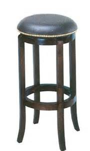 Leather Swivel Bar Stool Counter 24 Quot Nailhead Leather Wood Swivel Barstool Bar Stool In Bar Stools From Furniture On