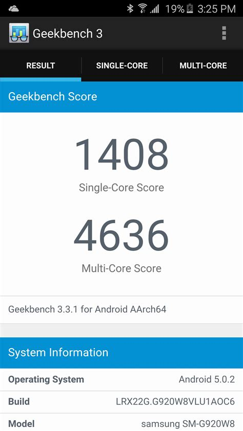 geek bench 3 test du samsung galaxy s6 sous android 5 0 lollipop geeks and com