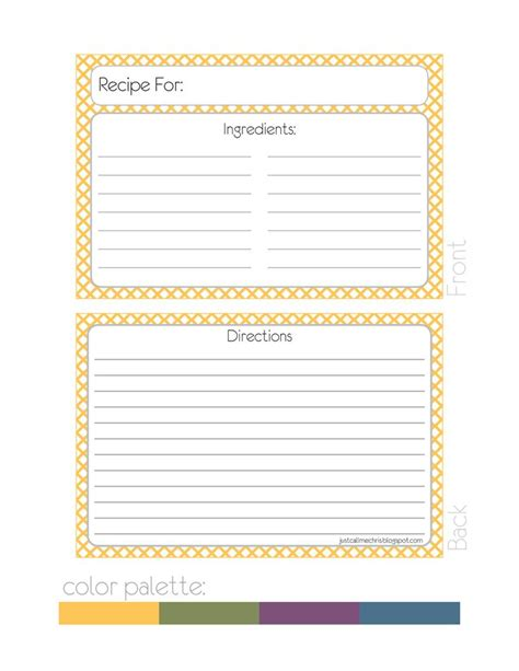 1000 ideas about recipe templates on pinterest homemade