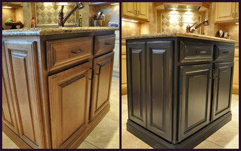 Kitchen Inside Cabinets Painted Kitchen Cabinets Before And After Photos Kitchen Inside Cabinet Painting Before And