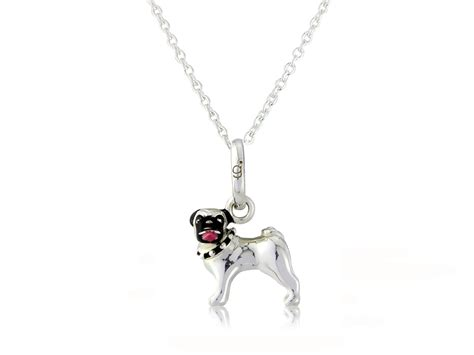pugs the caign sterling silver pug pendant from the gemma j woof collection gemma j
