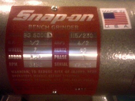 snap on bench grinder snap on bench grinder i ve never seen this before have you