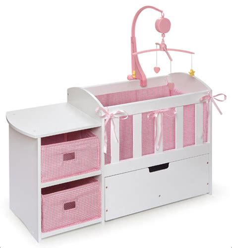 beds for baby dolls badger basket doll crib with storage dresser and trundle