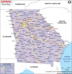 counties map with highways road map highway map
