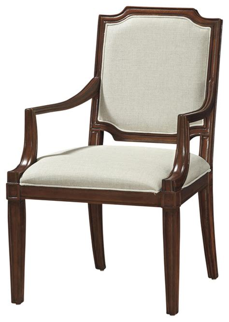 contours upholstered back dining arm chair traditional
