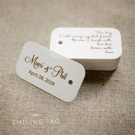 wedding tags on this day personalized gift tags custom wedding favor tags
