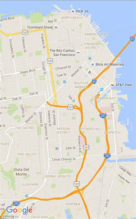 google maps gets cleaner look and orange areas of google maps has a makeover to make landmarks and traffic